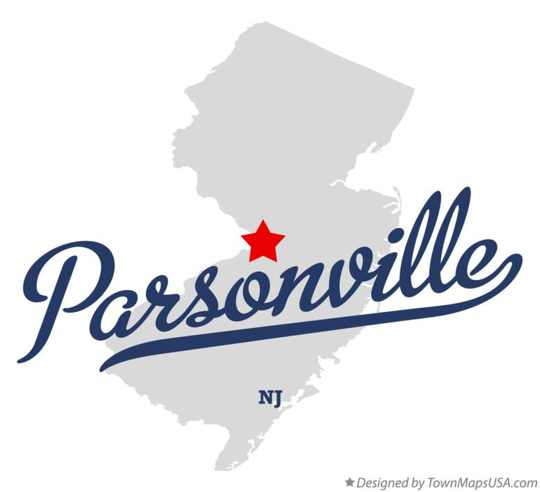 Map of Parsonville New Jersey NJ