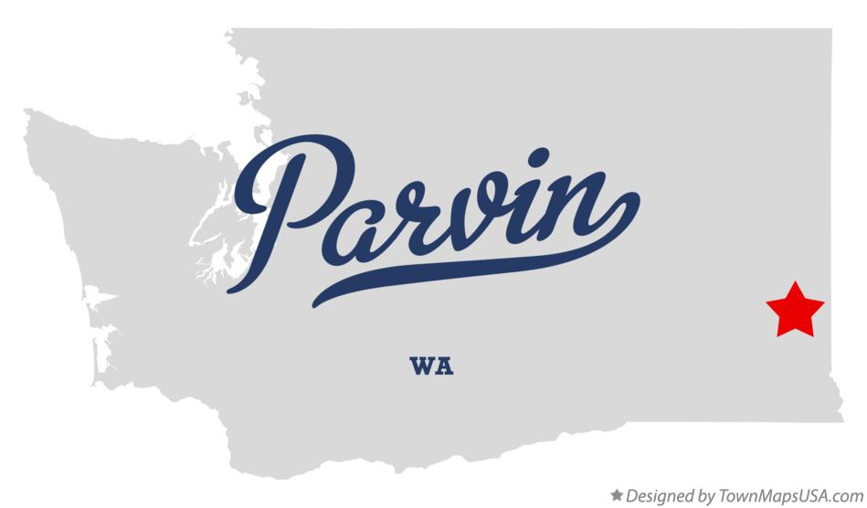 Map of Parvin Washington WA
