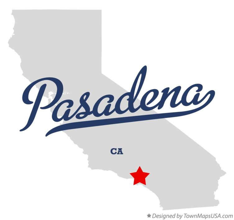 Map of Pasadena, CA, California