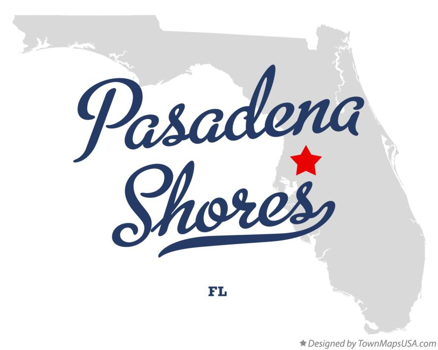 Map of Pasadena Shores Florida FL