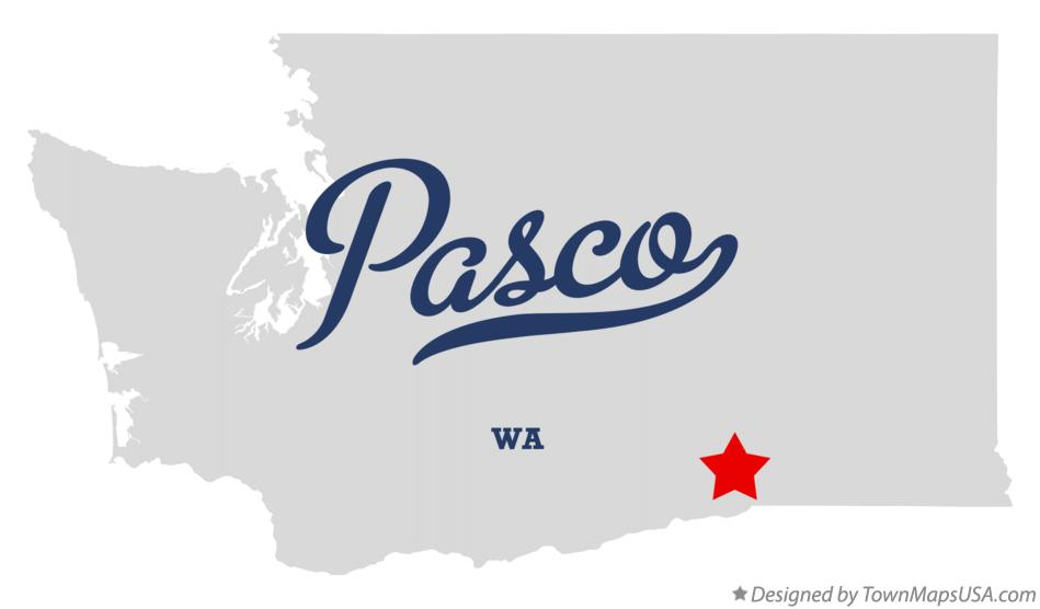 Map of Pasco Washington WA