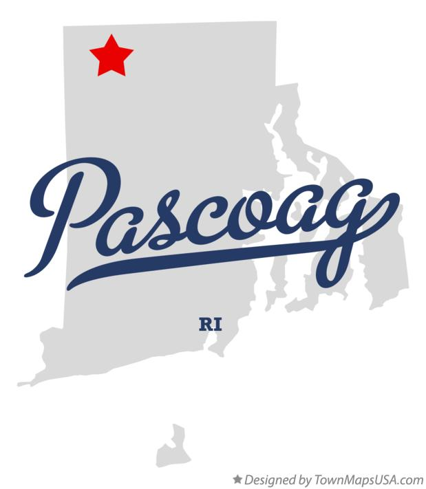 Map of Pascoag Rhode Island RI