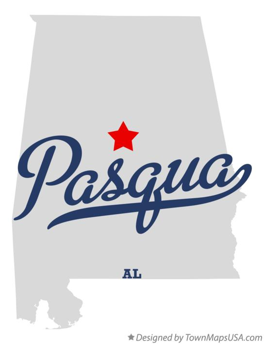 Map of Pasqua Alabama AL