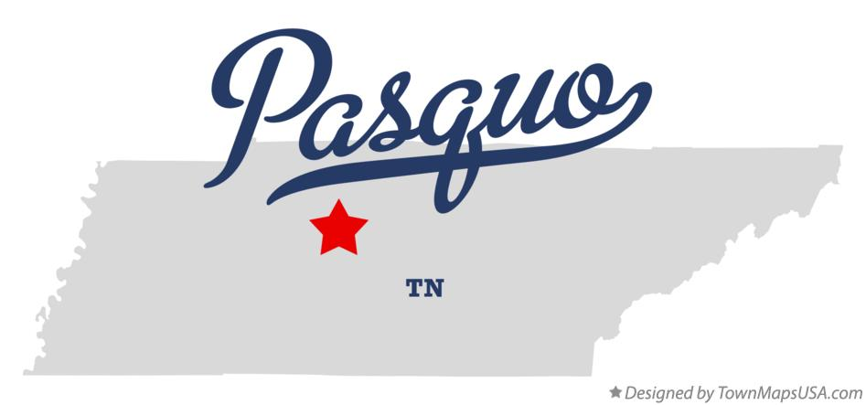 Map of Pasquo Tennessee TN
