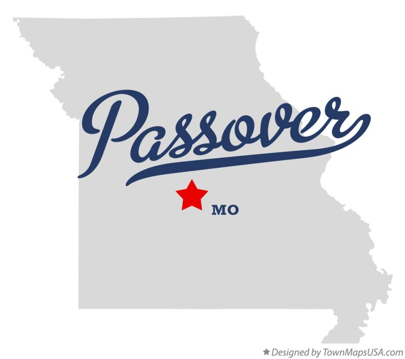 Map of Passover Missouri MO