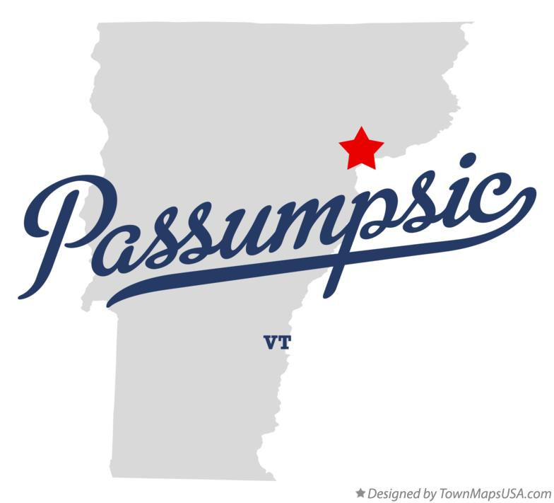 Map of Passumpsic Vermont VT