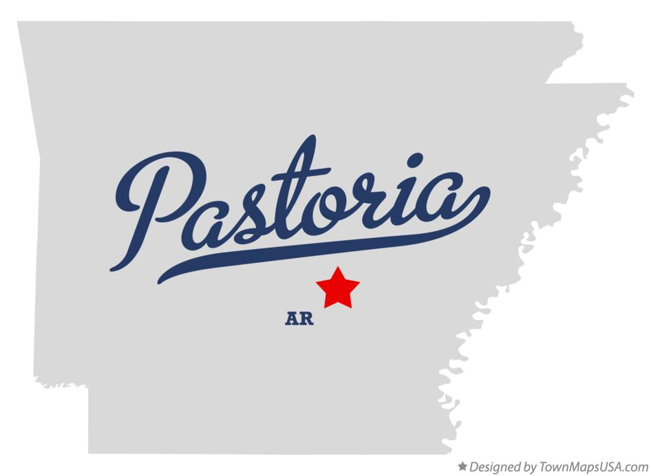 Map of Pastoria Arkansas AR