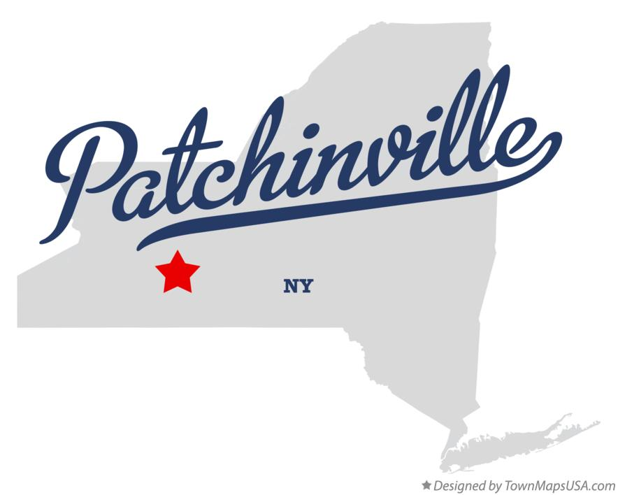 Map of Patchinville New York NY