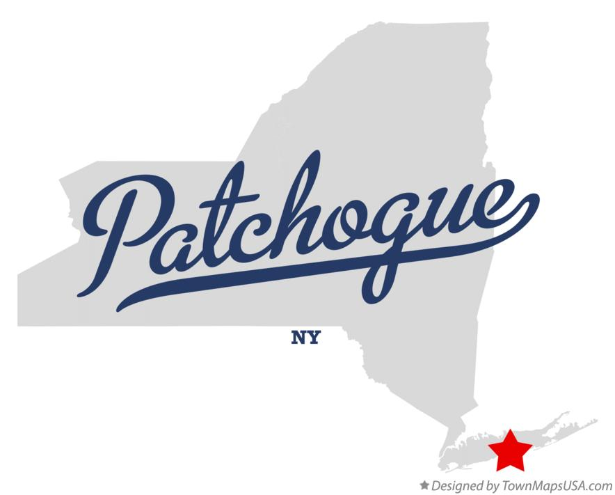 Map of Patchogue New York NY