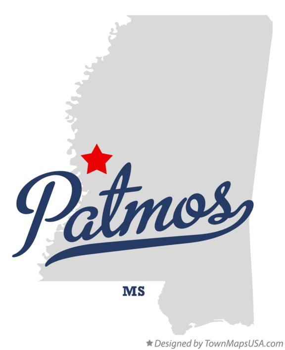 Map of Patmos Mississippi MS