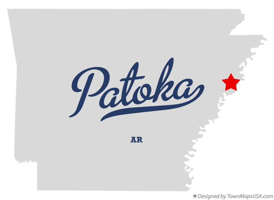 Map of Patoka Arkansas AR
