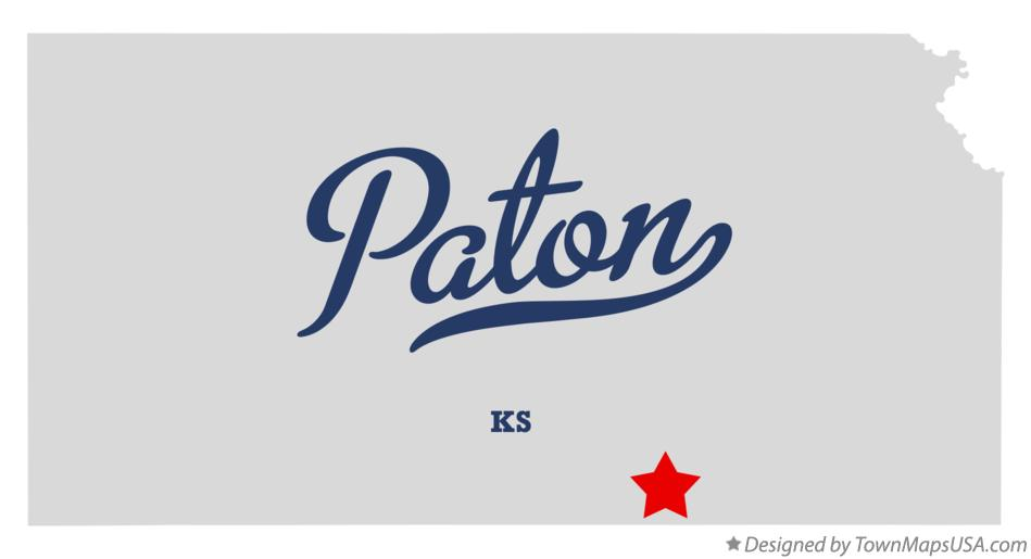 Map of Paton Kansas KS