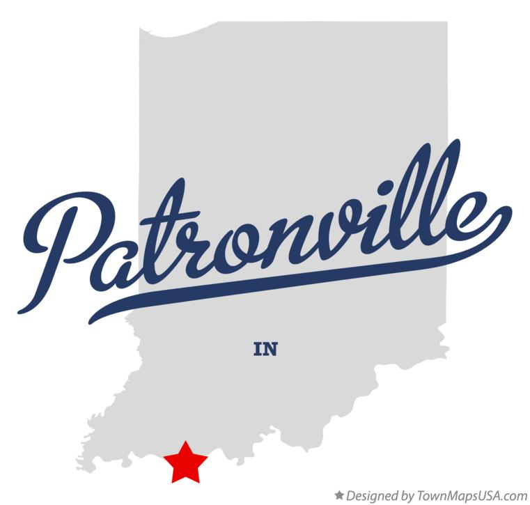 Map of Patronville Indiana IN