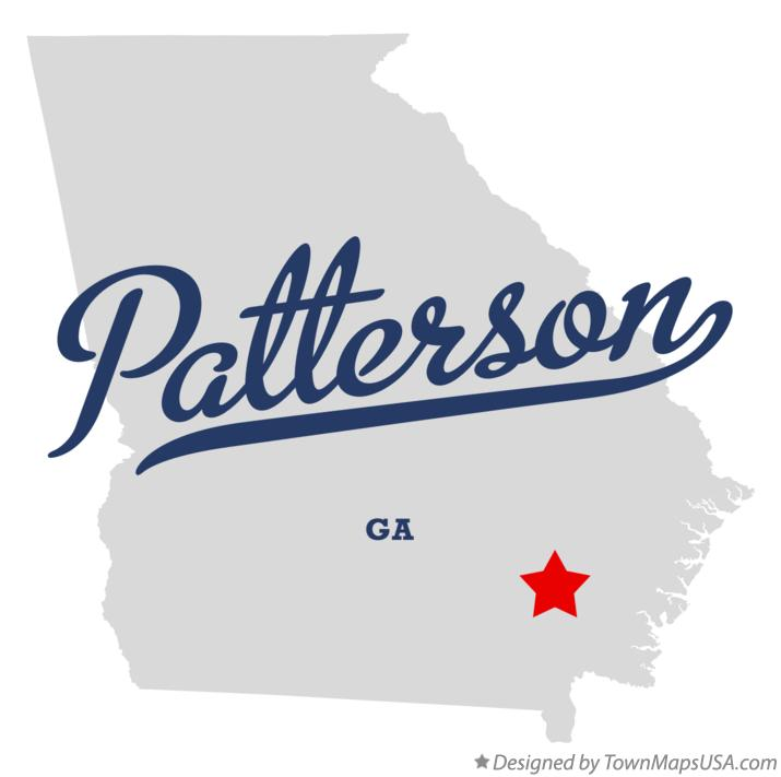 Map of Patterson Georgia GA