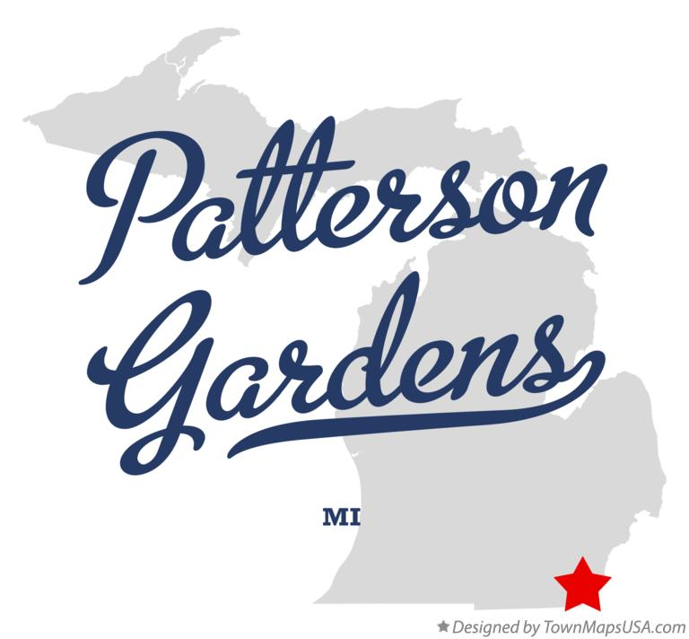 Map of Patterson Gardens Michigan MI