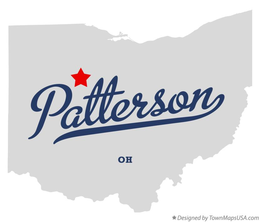 Map of Patterson Ohio OH