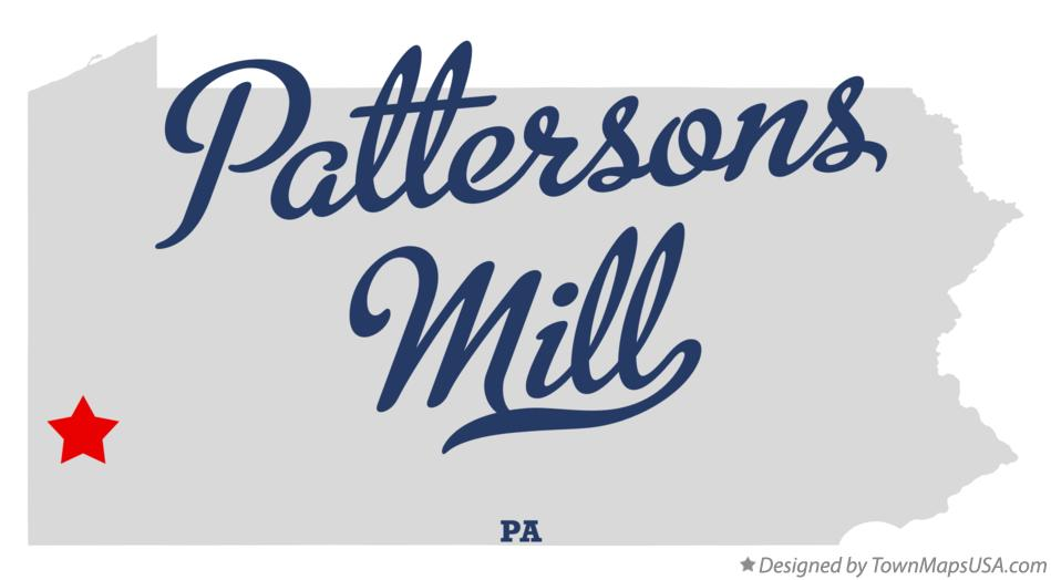 Map of Pattersons Mill Pennsylvania PA