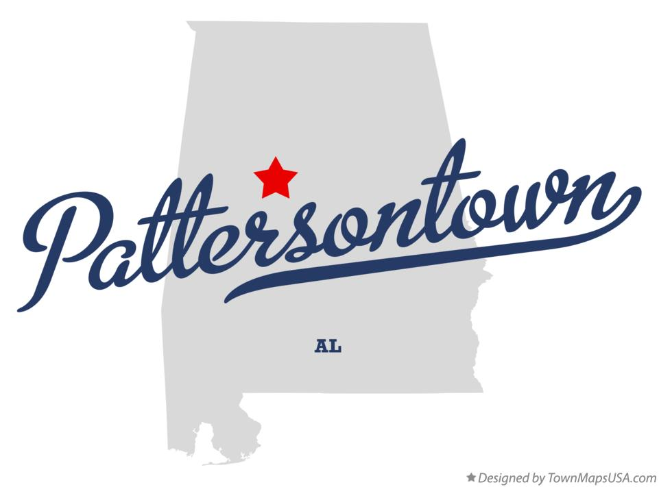 Map of Pattersontown Alabama AL
