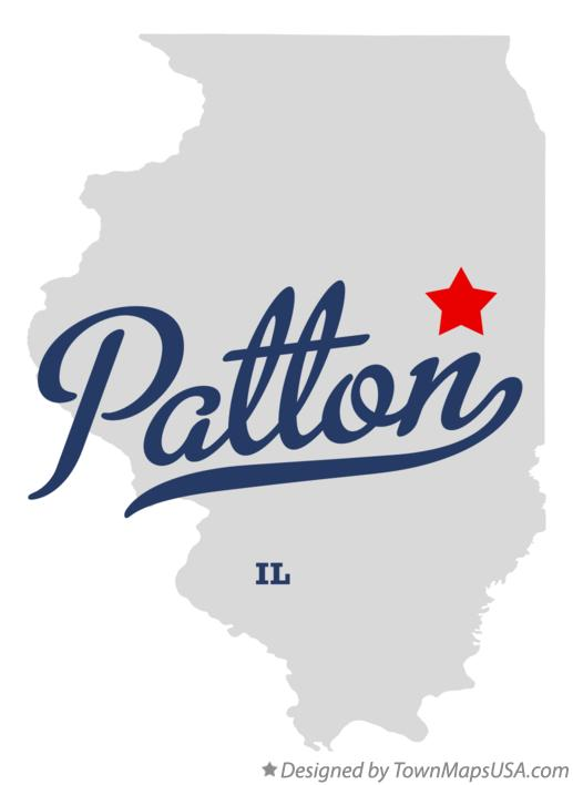 Map of Patton Illinois IL
