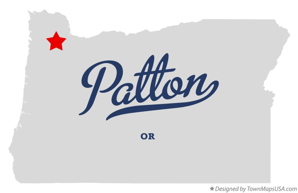 Map of Patton Oregon OR