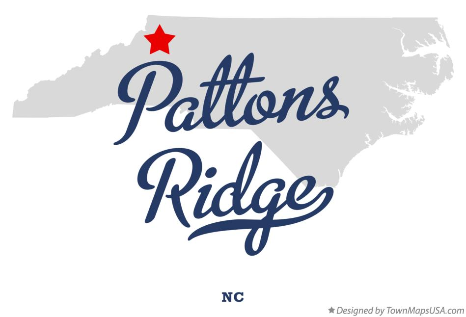 Map of Pattons Ridge North Carolina NC