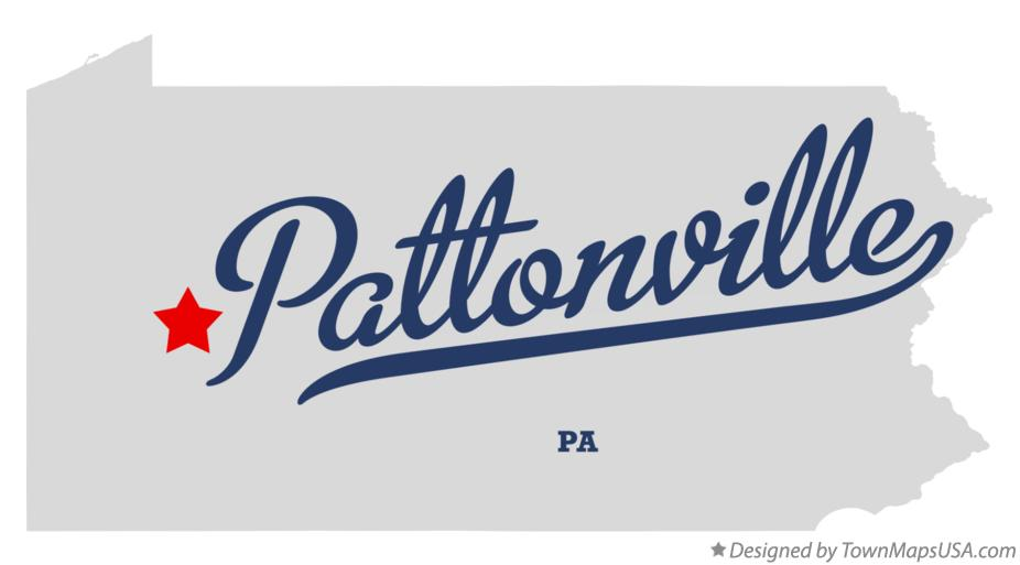 Map of Pattonville Pennsylvania PA