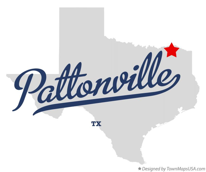 Map of Pattonville Texas TX