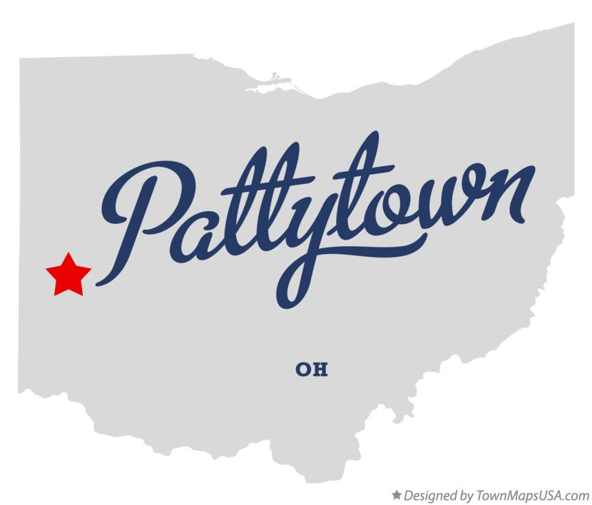 Map of Pattytown Ohio OH