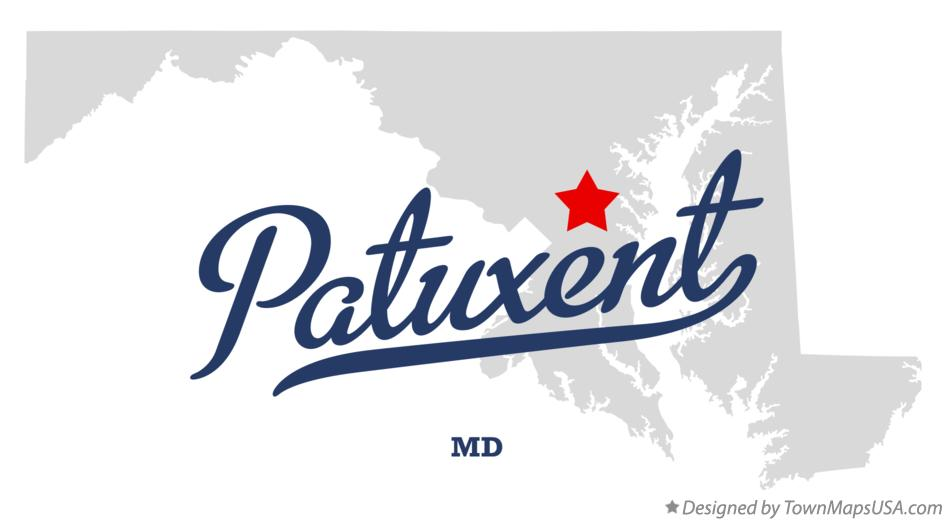 Map of Patuxent Maryland MD