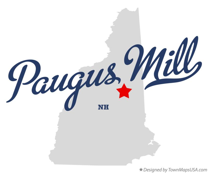 Map of Paugus Mill New Hampshire NH