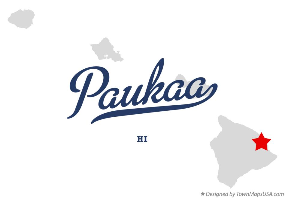 Map of Paukaa Hawaii HI