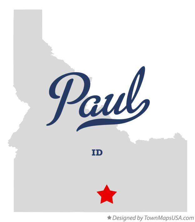 Map of Paul Idaho ID