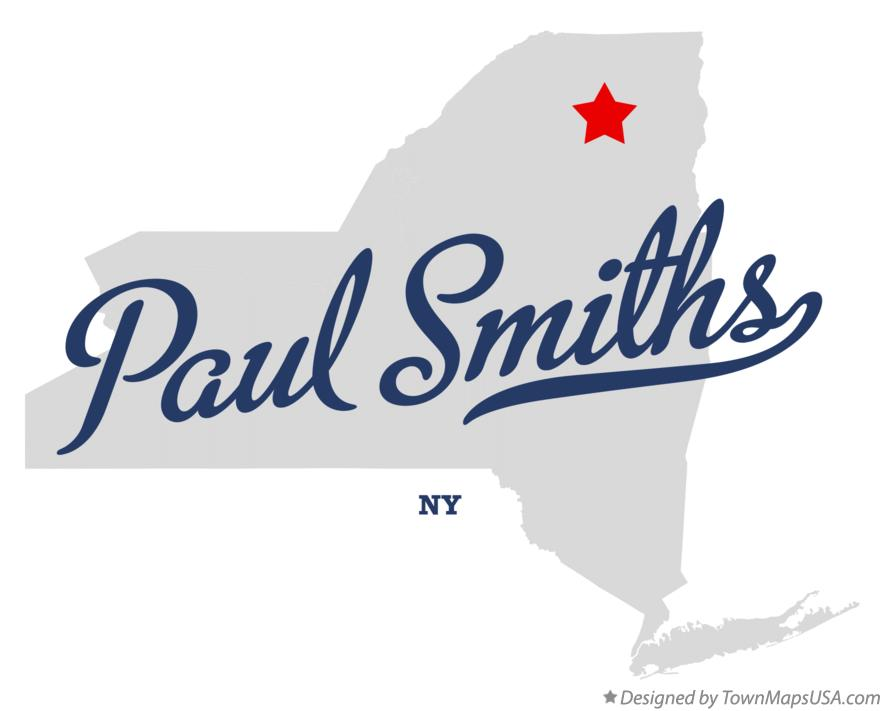 Map of Paul Smiths New York NY