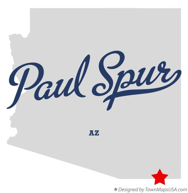 Map of Paul Spur Arizona AZ