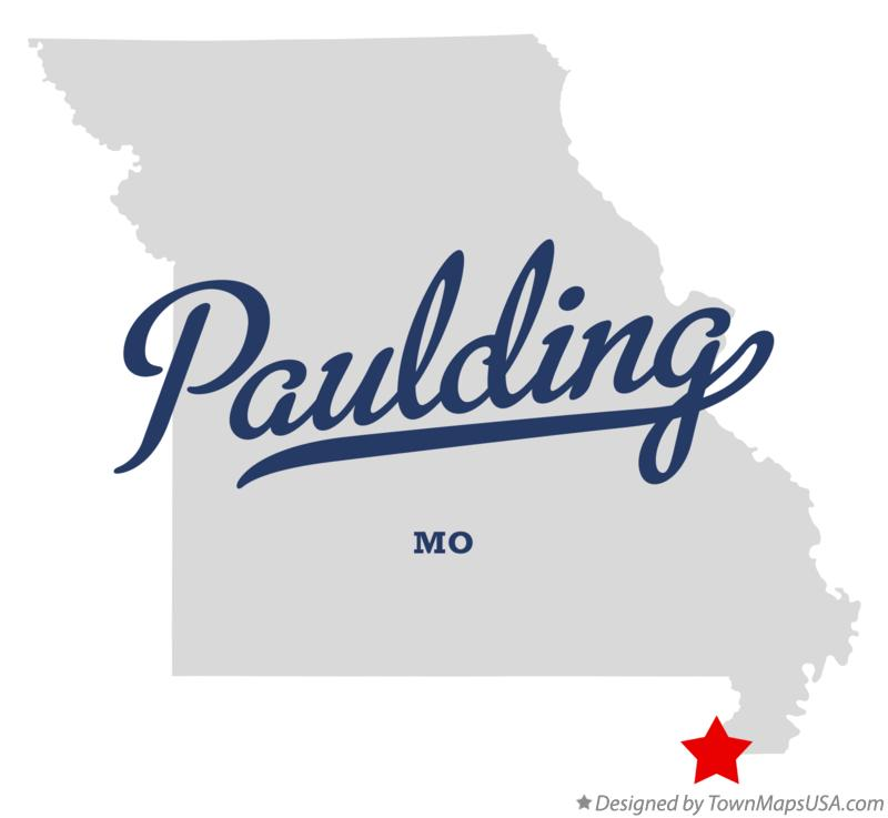 Map of Paulding Missouri MO