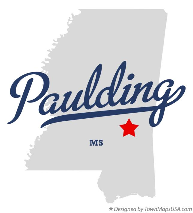 Map of Paulding Mississippi MS