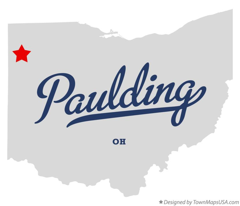 Map of Paulding Ohio OH