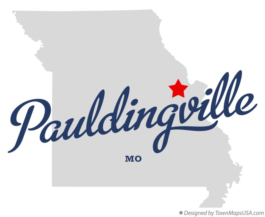 Map of Pauldingville Missouri MO