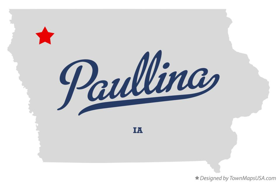Map of Paullina Iowa IA