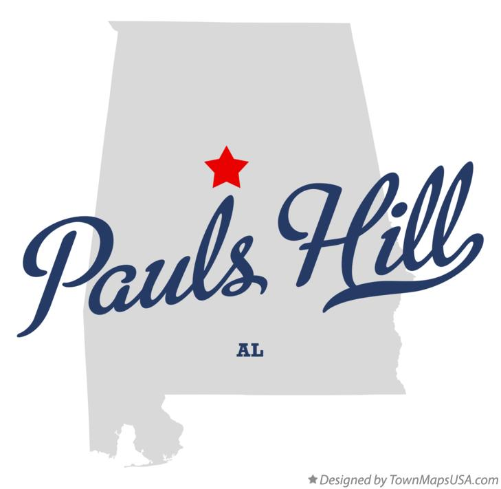 Map of Pauls Hill Alabama AL