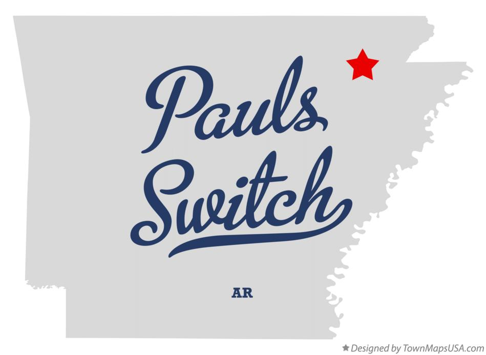 Map of Pauls Switch Arkansas AR
