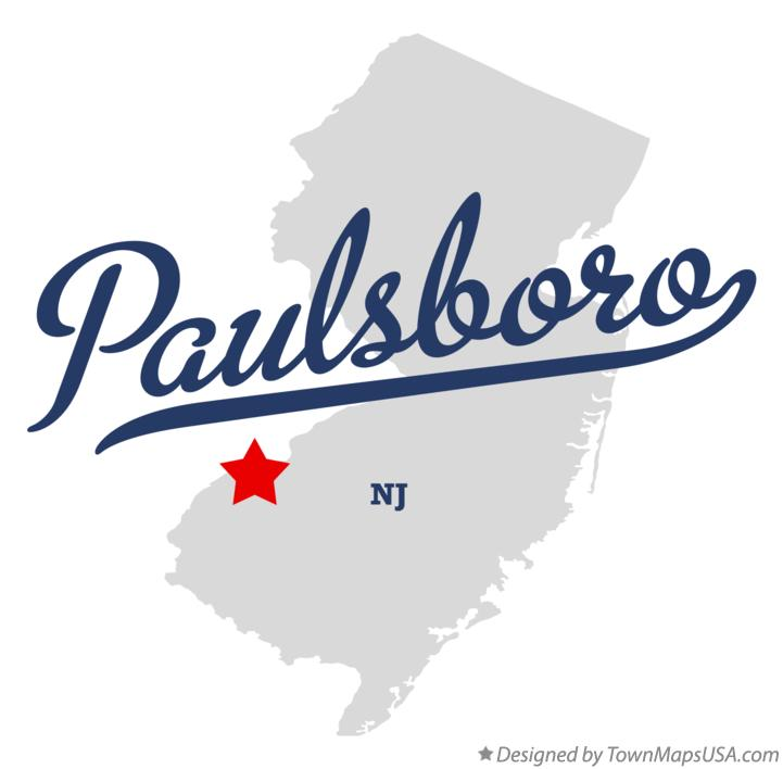 Map of Paulsboro New Jersey NJ