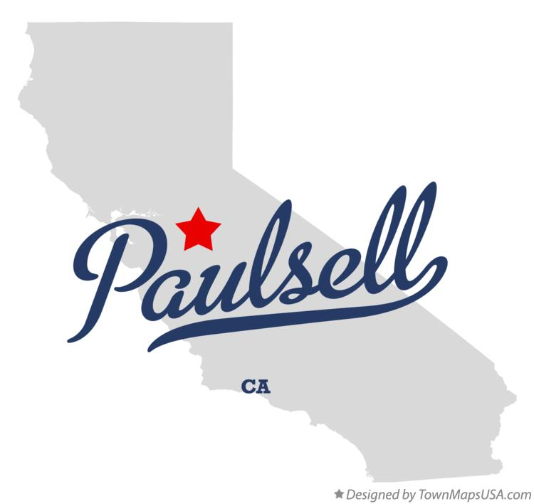 Map of Paulsell California CA
