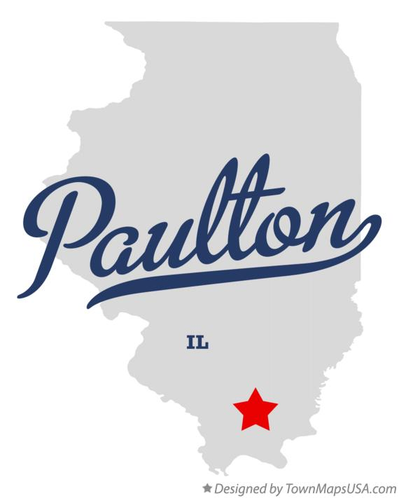 Map of Paulton Illinois IL