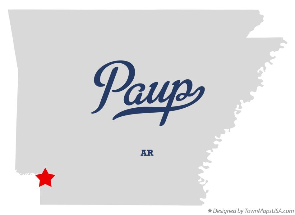 Map of Paup Arkansas AR