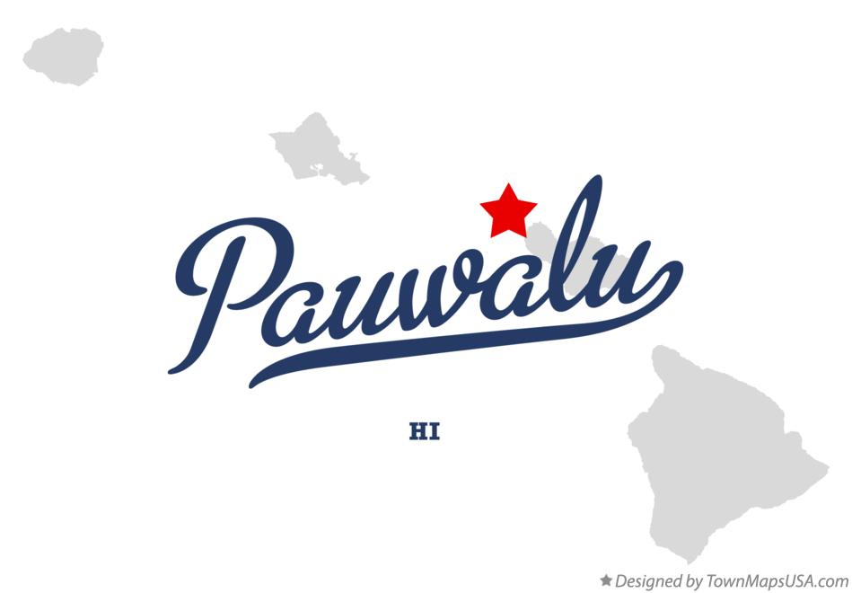 Map of Pauwalu Hawaii HI