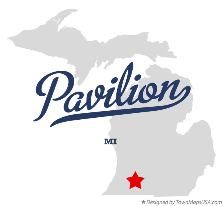 Map of Pavilion Michigan MI