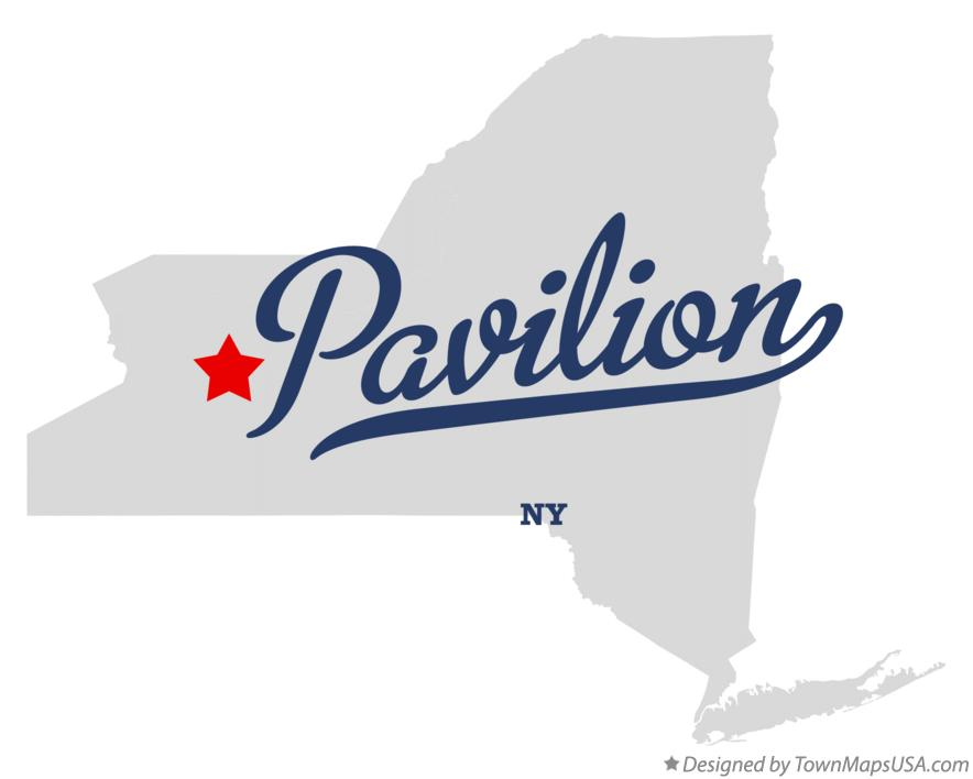 Map of Pavilion New York NY