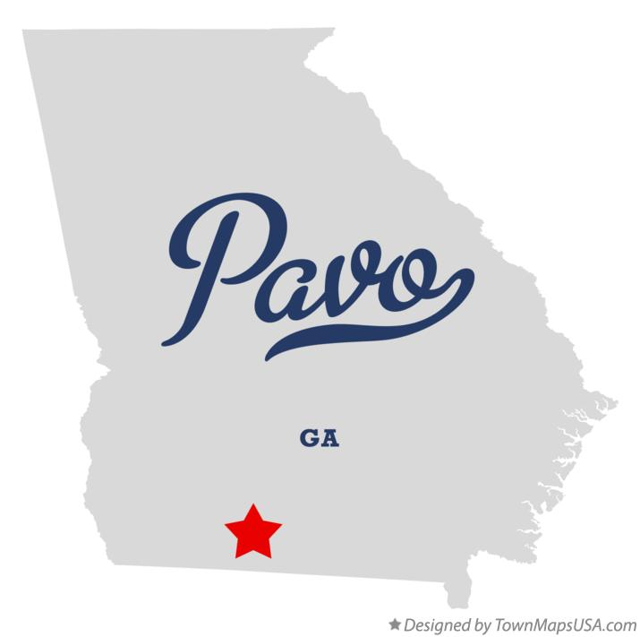 Map of Pavo Georgia GA