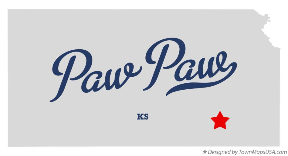 Map of Paw Paw Kansas KS